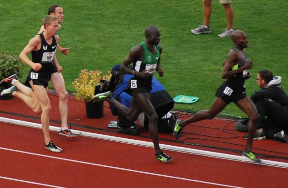 The 5,000 meter race at the US Olympic Track & Field Trials, 2012